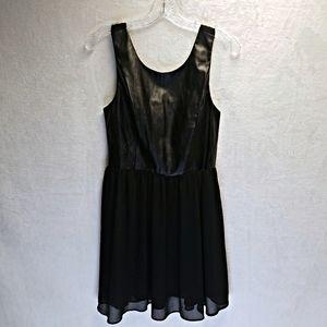 Sans Souci faux leather black dress